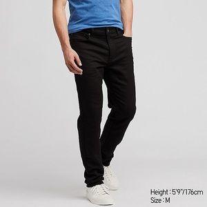 Men's Uniqlo Black Slim Fit EZY Jeans Size Large